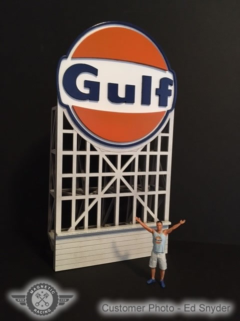 Gulf Billboard by Magnetic Racing 1:32 scale