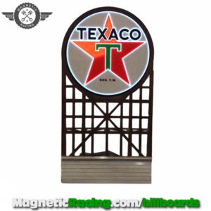 Flashing Texaco Sign for scalextric tracks 1:32 scale magnetic Racing