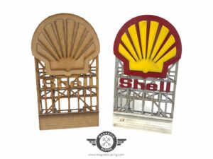 Shell 1971 1:32 scale Billboards for Scalextric tracks from Magnetic Racing