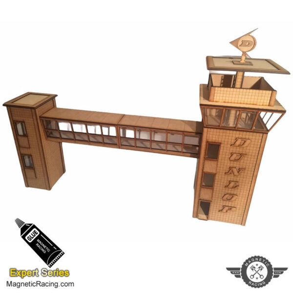 Scalextric Dunlop Control Tower and Crosswalk c234