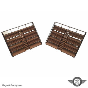 Pair of spectator stands 1:32 scale magnetic racing