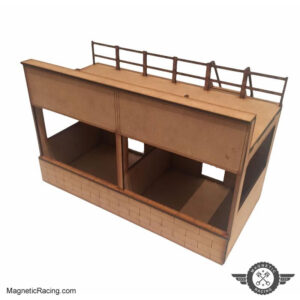 1:43 Scale Reims classic pits for slot car tracks