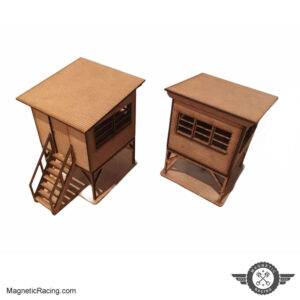 1:43 scale marshal huts for slot car tracks