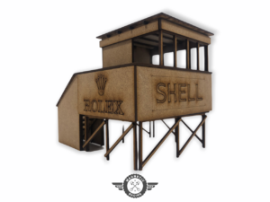 Goodwood Marshal Hut by the chicane for scalextric 1:32 scale Magnetic Racing